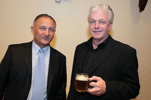 Vladimír Komínek - ředitel SD Partners Ardanas a pan Šuráň - ředitel malých pivovarů